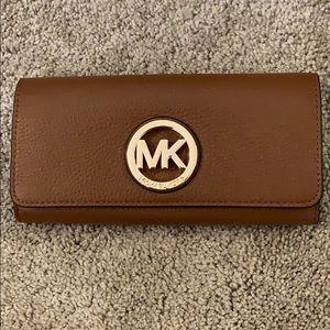 Michael Kors brown leather wallet